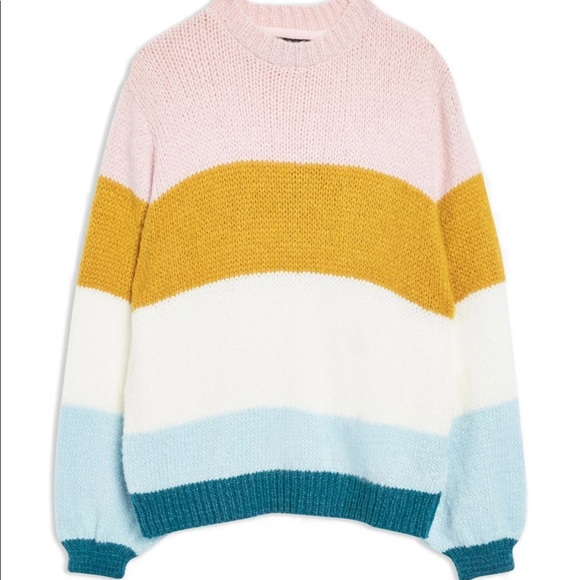 89f2a8c8f Topshop- Colorblock Knit Pullover